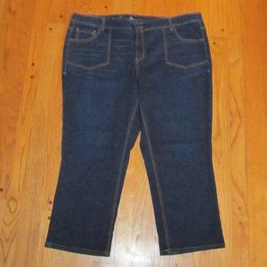 LANE BRYANT GENIUS FIT CAPRI JEANS PLUS SZ 24
